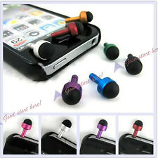 Earphone Jack Plug Dust Cover 3.5mm Mini Touch Pen Stylus For iPhone 4G 3G I POD