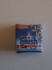 Miniature finish diswasher tablets box modern 1/12th doll's house new (J8)