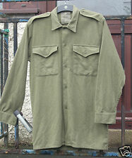 GENUINE 1960'S BRITISH ARMY WOOL SHIRTS VARIOUS SIZES ALL USED GRADE 1
