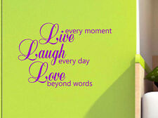 LIVE LAUGH LOVE Quotes decal sticker vinyl wall art home decoration LLL2