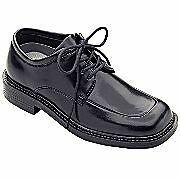 Michael James Christopher Boys Black Dress Shoes MSRP$34 PERFECT FOR CHURCH NEW