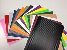 A4 Full Colour CARBON FIBRE VEHICLE VINYL WRAP Sticker Sheet Mobile Lap Top DIY