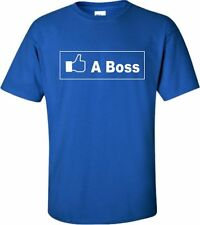 Adult Facebook Like A Boss Novelty Tshirt in Multiple Colors