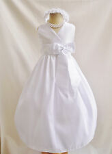 2012 APPLE RED WHITE SUMMER WEDDING FLOWER GIRL DRESS 1 2 4 6 8 10 12 14