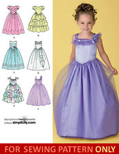 SEWING PATTERN! MAKE FANCY FLOWER GIRL DRESS! SIZE CHILD 3 TO 8 PRINCESS~WEDDING