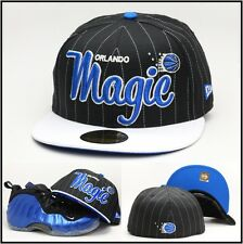 New Era Orlando Magic Custom Fitted Hat Designed For Air Foamposite Royal Blue