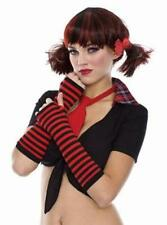 Multi Color Gothic Punk Sexy Costume Fingerless Sexy Gloves Striped Arm Warmers