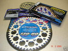 Renthal Chain And Silver Sprocket Kit CR CRF 125/250/450/500 R X Motocross