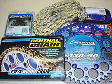 Renthal Chain And Blue Sprocket Kit YZ YZF WRF WR 125/250/400/426/450 Motocross