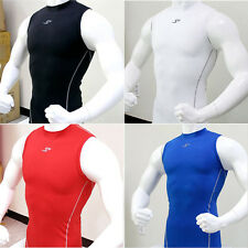 Mens Sleeveless Shirts Tank Tops Compression Base Under Layers Skin Wear Fitness
