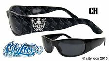 City Locs Skull Raiders Brim Shield Chopper Lowrider Gangster OG Sunglasses 426