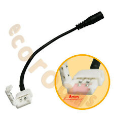 DC to LED Strip: Female Jack Plug to 8MM Snap Down PCB Connector 3528SMD w Cable
