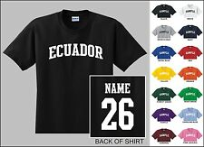 Country Of Ecuador College Letter Custom Name & Number Personalized T-shirt