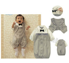 (6-24M) 2 Pieces Baby Boy Twin Formal Occasion Tuxedo Suit / Sleeping Bag Set