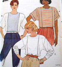 Vtg 80s womens top pattern sz 6 8 10 12 14 16 blouse deep armhole pullover FF