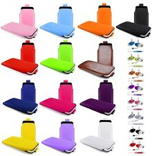 M- PULL TAB POUCH CASE COVER + HANDS FREE HEADSET fOr  Samsung Corby 2 S3850