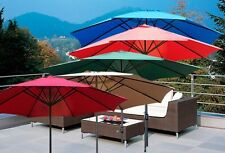 New Deluxe 10' 9' 8' FT Outdoor Patio Market Beach Aluminum Crank Umbrella