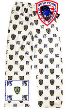 NYPD Pajama Pants White Officially Licensed by The New York City Police Dep