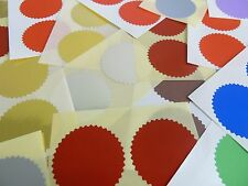 42mm Serrated Certificate Wafer Seals Labels Awards Legal Embossing Stickers