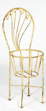 Wrought Iron Chair That Holds Flower Pot - Metal Flower Holder for Your Garden
