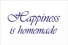 HAPPINESS IS HOMEMADE Quote sticker decal vinyl wall art decoration HH3