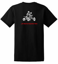 ATV RACING REQUIRES BALLS JUST RIDE T SHIRT QUAD YFZ 450 FOURTRAX KTM 4 WHEELER
