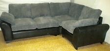OXFORD CORNER UNIT, 2 SEATER CORNER, BLACK AND GREY JUMBO SNAKE