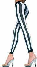 Sexy Fun Bold Wide Vertical Stripes Nylon Tights Legging Thigh Hi Stocking MLH