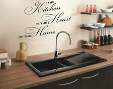 THE KITCHEN IS THE HEART OF THE HOME Quote sticker decal vinyl wall art KHH3