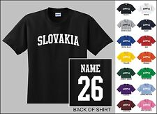 Country Of Slovakia Custom Name & Number Personalized Youth T-shirt