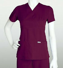 Grey's Anatomy Scrub Top Wine 4153 Size Choice NWT
