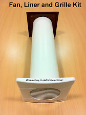 VENT AXIA Extractor Fan, Wall Liner and External Grille Kit. Timer options.