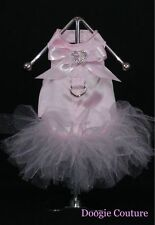 PRETTY IN PINK COUTURE Dog Tutu Harness Dress  Size XXXS-M