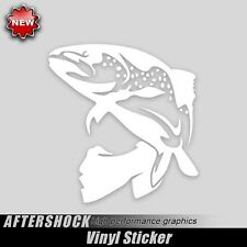 Brown Trout Fishing Sticker fly fish