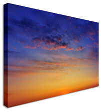 Large Blueberry Blue Sunset Skyscape Canvas Pictures Wall Art Prints