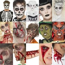 Smiffys FX Halloween Make Up Face Paint Kit ~ Zombie Devil Witch Skeleton