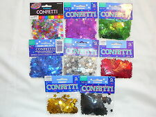TABLE CONFETTI GOLD RED OR BLACK STARS PARTIES WEDDINGS ART CRAFTS DECOR PARTY