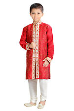 NEW BOYS INDIAN KURTA SHERWANI SUIT (4 pcs) 1 to 16 YRS