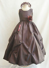 TRUFFLE BROWN BRIDESMAID WEDDING PAGEANT PARTY RECITAL DANCING FLOWER GIRL DRESS