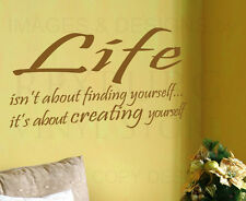 Wall Art Decal Sticker Quote Vinyl Lettering Decorative Create Yourself I63