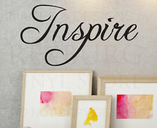 Wall Quote Decal Vinyl Sticker Art Lettering Decorative Inspire Inspiration IN30