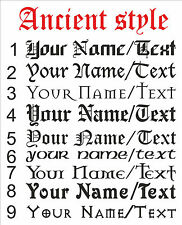 Personalize Your Name Text ANCIENT STYLE decal sticker vinyl art wall art AS
