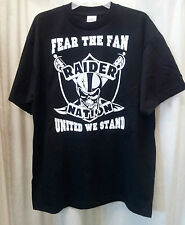 OAKALND RAIDERS FEAR THE FAN UNITED WE STAND RAIDER NATION SHIRT BRAND NEW NFL