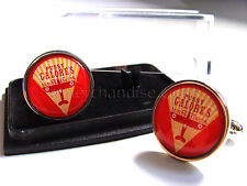 JAMES BOND 007 PUSSY GALORE'S FLYING CIRCUS BADGE MENS CUFFLINKS GIFT