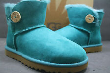 NEW! Womens UGG Boot Mini Bailey Button!! EMERALD -3352!ORIGINAL 100% AUTHENTIC!