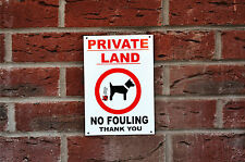Private Land No Fouling Thank You Dog House/Property/Garden Warning Sign/Sticker