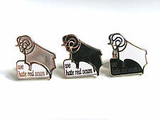 Derby County Ram 'We Hate Red Scum' Pin Badge - Football Badge