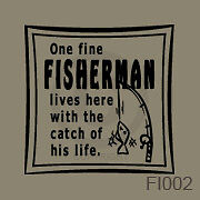 Fisherman Plaque Fishing Pole Western Decal Vinyl Vynil Wall Art Sticker Saying