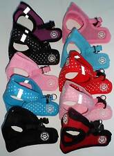 Small Dog Puppy Chihuahua XS S M L Soft Touch Harness Pink Blue Black Red Collar