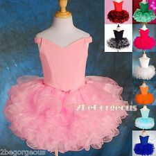Girl Birthday Party Costume Dance Occasion Cupcake Dress Size 2-10 Years PT001